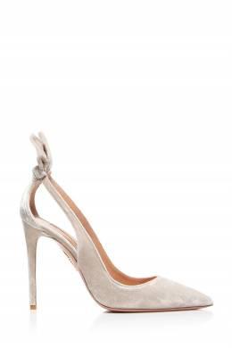 Серые туфли из бархата Deneuve Aquazzura 975161248