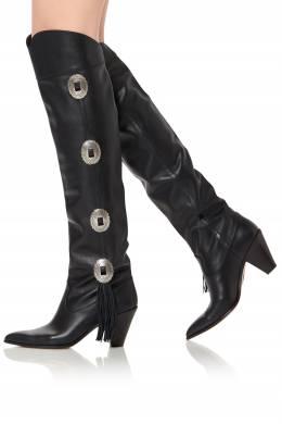 Черные кожаные сапоги Go West Aquazzura 975161251