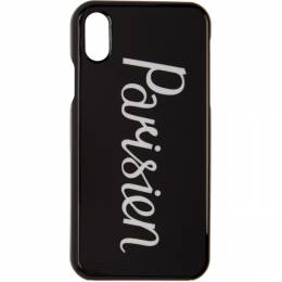 Maison Kitsune Black Parisien iPhone X Case DU05605AP0001