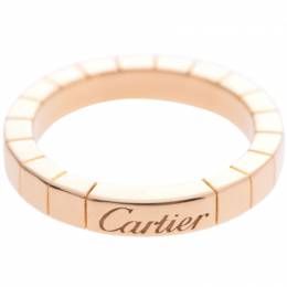 Cartier Lanieres 18K Yellow Gold Band Ring Size 49 238640
