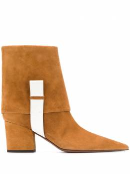 L'Autre Chose textured colour block boots OSK12770WP2833G448