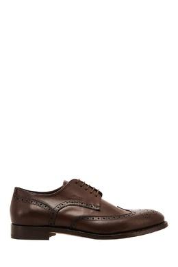 Коричневые ботинки с перфорацией Canali 179394035