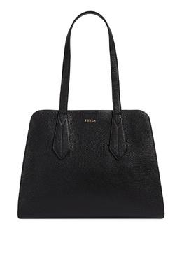 Черная сумка Diletta из матовой зернистой кожи Furla 1962161500