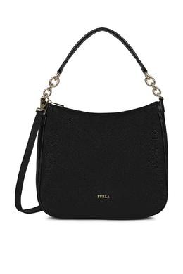 Черная сумка-хобо Cometa из кожи Furla 1962161472
