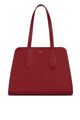 Красная кожаная сумка Diletta Furla 1962161496