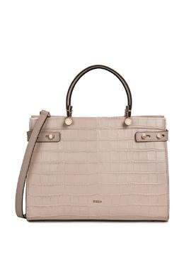 Светло-розовая сумка Lady из кожи с тиснением под крокодила Furla 1962161441