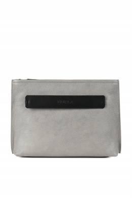 Большой клатч серого цвета Urano Furla 1962161629