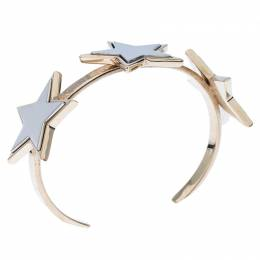 Givenchy Iconic Star Two Tone Open Cuff Bracelet M