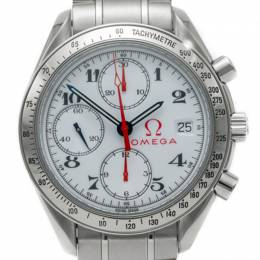 Omega White Speedmaster Olympic Stainless Steel Automatic Men'S Watch 39MM 239710
