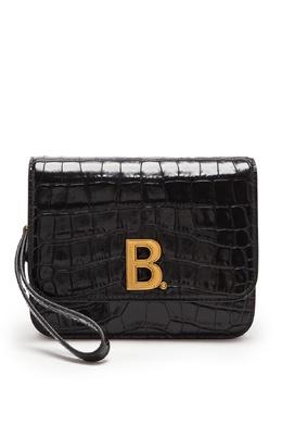 Сумка из черной фактурной кожи с монограммой B Balenciaga 397162365