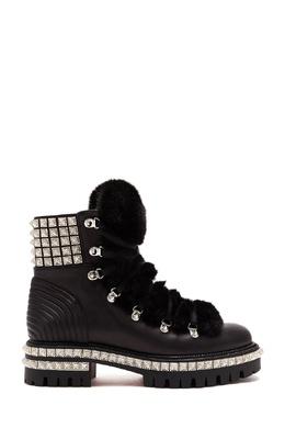 Ботинки с заклепками Yeti Donna Christian Louboutin 106161746