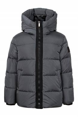 Серая куртка с цельнокройным капюшоном Il Gufo 1205161890