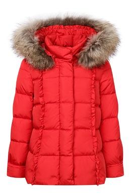 Объемная красная куртка с капюшоном Il Gufo 1205161877