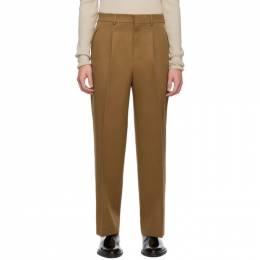 Ami Alexandre Mattiussi Tan Textured Wool Trousers 192482M19104206GB