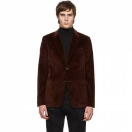 Ami Alexandre Mattiussi Brown Two-Button Patch Pockets Blazer 192482M19501006GB
