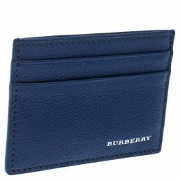Burberry Blue Leather Card Holder 239180
