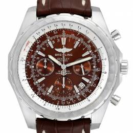 Breitling Bronze Stainless Steel and Leather Bentley T Chrono A25363 Men's Wristwatch 48.7MM 240056