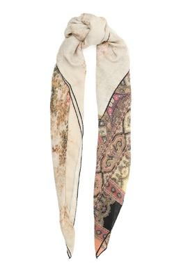 Бежевый платок с узором Etro 907161977