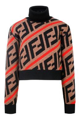 Разноцветный свитер с логотипами FF Fendi Kids 690162831