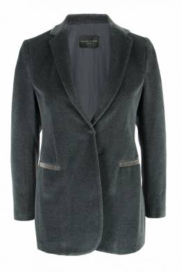 Серый жакет из мягкой ткани Fabiana Filippi 2658162961