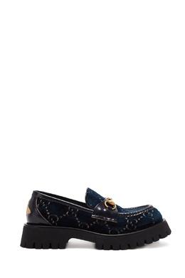 Лоферы Horsebit из шерсти с орнаментом GG Gucci 470162418