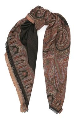 Бордовый платок с орнаментом Etro 907162017
