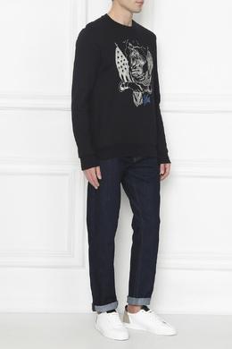 Черный свитшот с вышивкой Paul Smith 1924162874