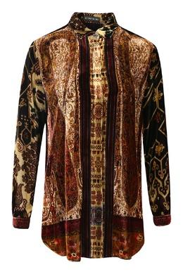 Блуза из шелкового бархата Etro 907163006