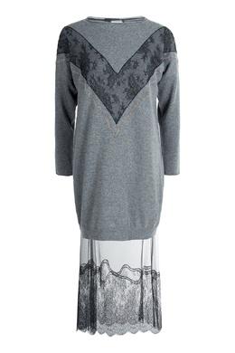 Платье-свитер с прозрачным подолом Fabiana Filippi 2658163010