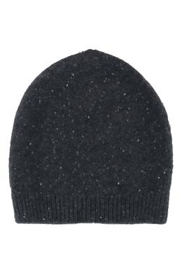 Темно-серая шапка с пайетками Fabiana Filippi 2658162983