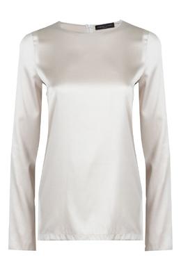 Шелковая блуза бежевого цвета Fabiana Filippi 2658163014