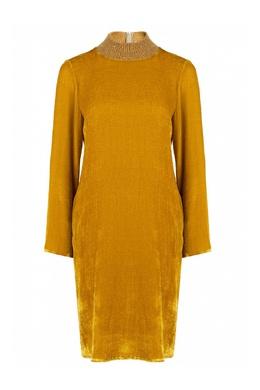 Бархатное платье желтого цвета Fabiana Filippi 2658162994