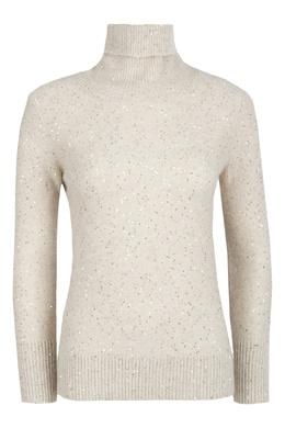 Бежевый свитер с высоким воротником Fabiana Filippi 2658163037