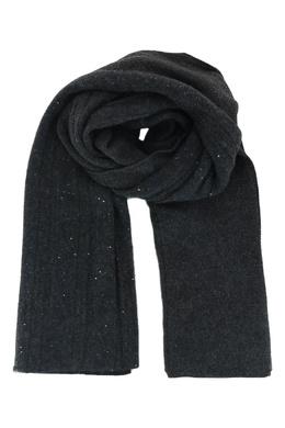Темно-серый шарф из шерсти Fabiana Filippi 2658162974