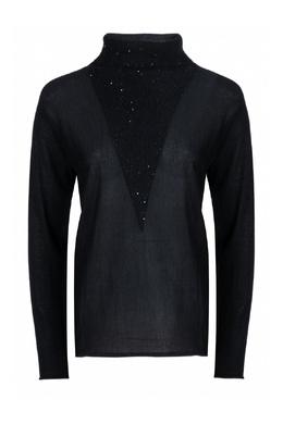 Блуза с трикотажной вставкой Fabiana Filippi 2658163040