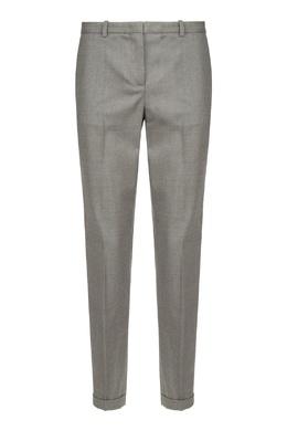 Серые брюки из шерстяной ткани Fabiana Filippi 2658163053