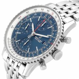 Breitling Blue and Stainless Steel Navitimer Men's Wristwatch 42MM 240067