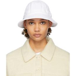 Sjyp White Terry Logo Bucket Hat PWMT2AZ02900