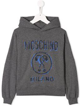 Moschino Kids худи с логотипом HUF033LDA16