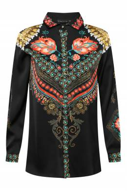 Шелковая рубашка с цветочным принтом Etro 907159443