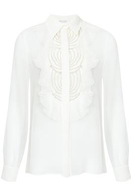 Белая блузка с отделкой Alberta Ferretti 1771163319