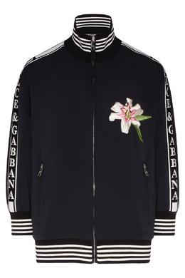 Черная олимпийка с вышивкой Dolce&Gabbana 599162477