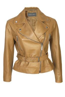 Кожаная куртка со скошенной молнией Alberta Ferretti 1771163242