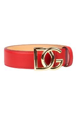Ярко-алый ремень с пряжкой-логотипом Dolce&Gabbana 599162574