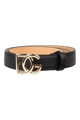 Черный ремень с пряжкой-логотипом Dolce&Gabbana 599162573