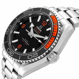 Omega Black and Stainless Steel Planet Ocean 600M 215.30.44.21.01.002 Men's Wristwatch 43.5 MM 240131