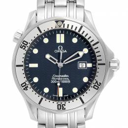 Omega Blue and Stainless Steel Seamaster 300m 2542.80.00 Men's Wristwatch 41MM 240135