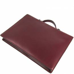 Cartier Wine Leather Must Briefcase 241043