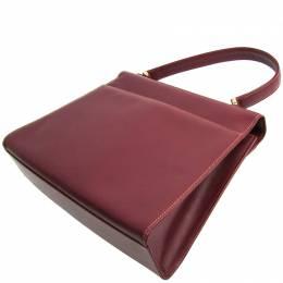 Cartier Bordeaux Leather Must Top Handle Bag
