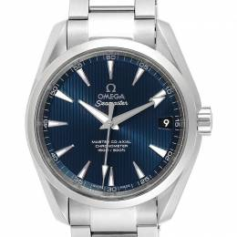 Omega Blue and Stainless Steel Seamaster Aqua Terra 231.10.39.21.03.002 Men's Wristwatch 38.5MM 240151